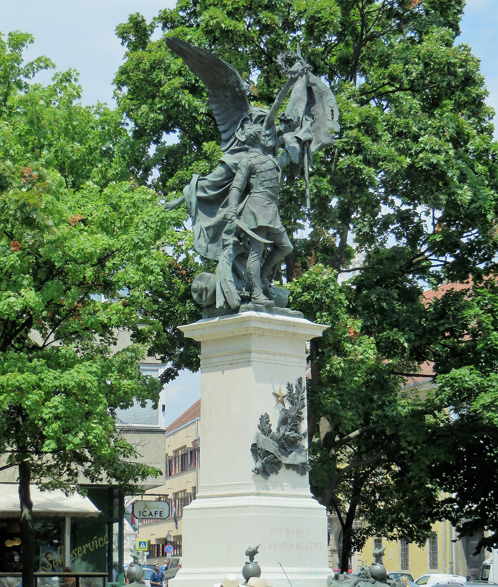 The Statue of Independence War in Budapest was built in 1893