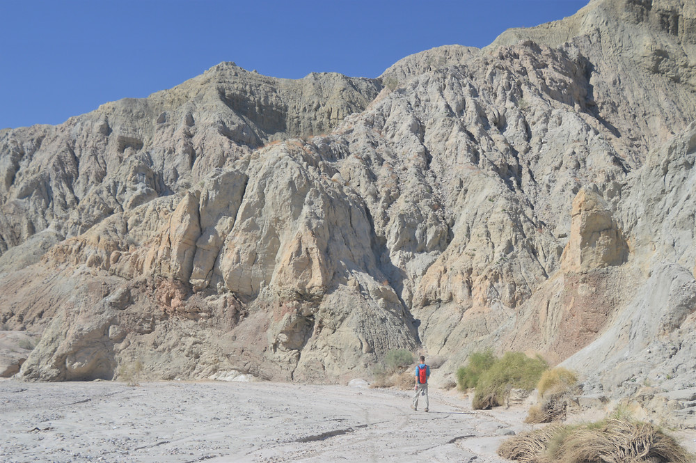 Hiker in Coffee Bean Canyon, Red Canyon