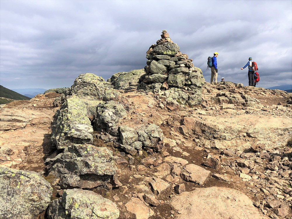 Summit of Mt Lincoln in the Franconia Mountain Range. 4000 footer.