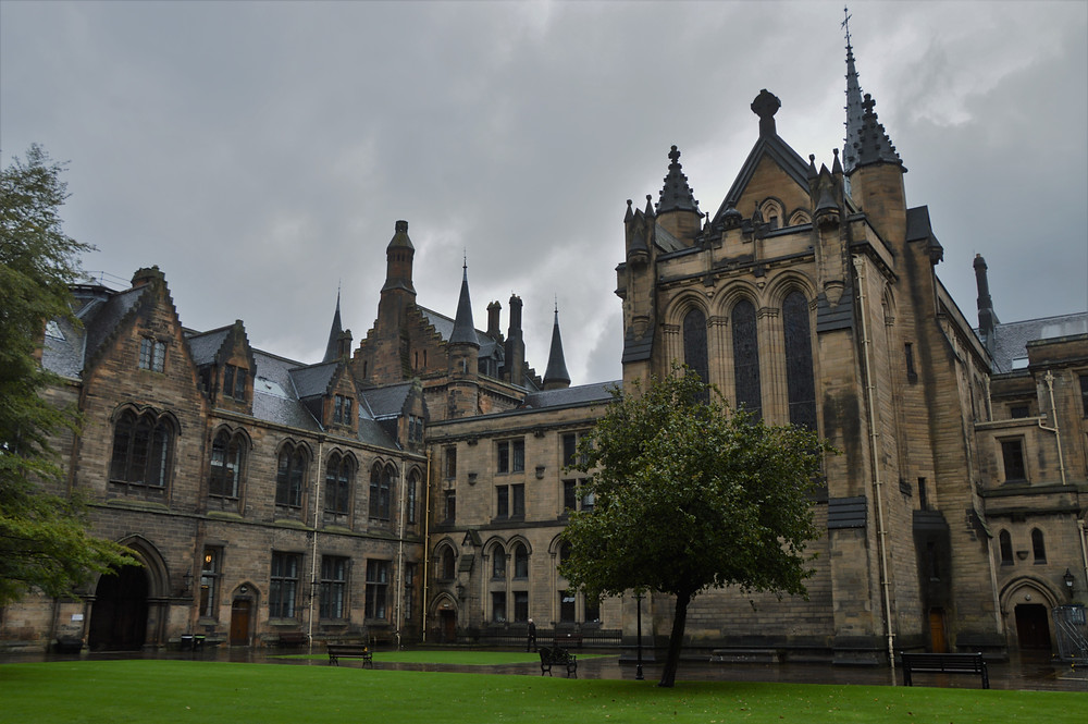 Old buildings of University of Glasgow founded in 1451