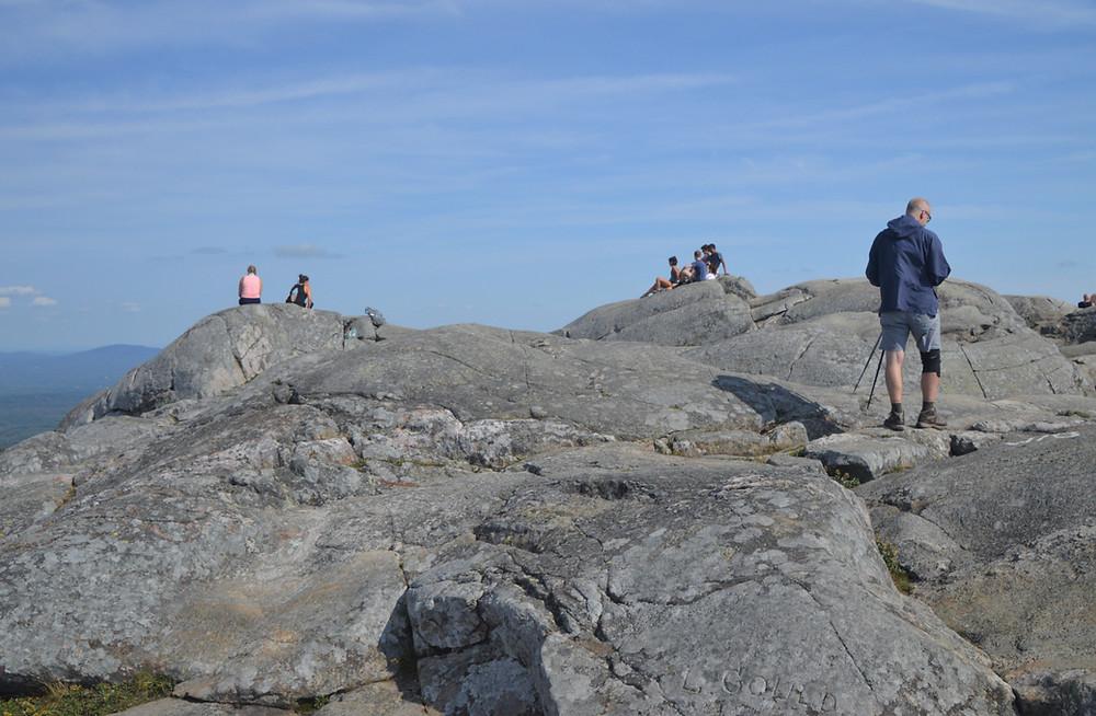 Rocky and treeless Mount Monadnock summit