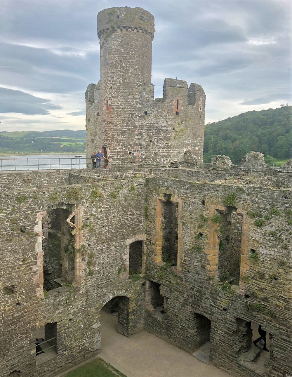 Royal Apartments in the Conwy Castle Inner Ward built by Edward I in 1280s