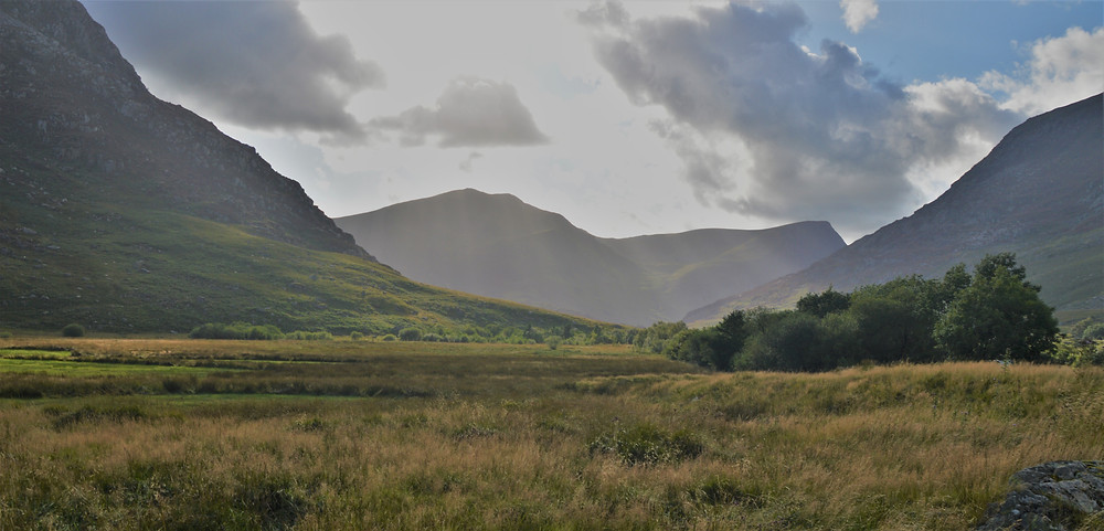 Mountains in Ogwen Valley in Snowdonia in Wales