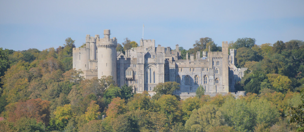 View of Arundel Castle from the nearby village