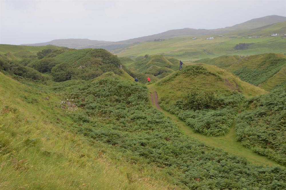 Fairy Glen rolling green hills on the Isle of Skye