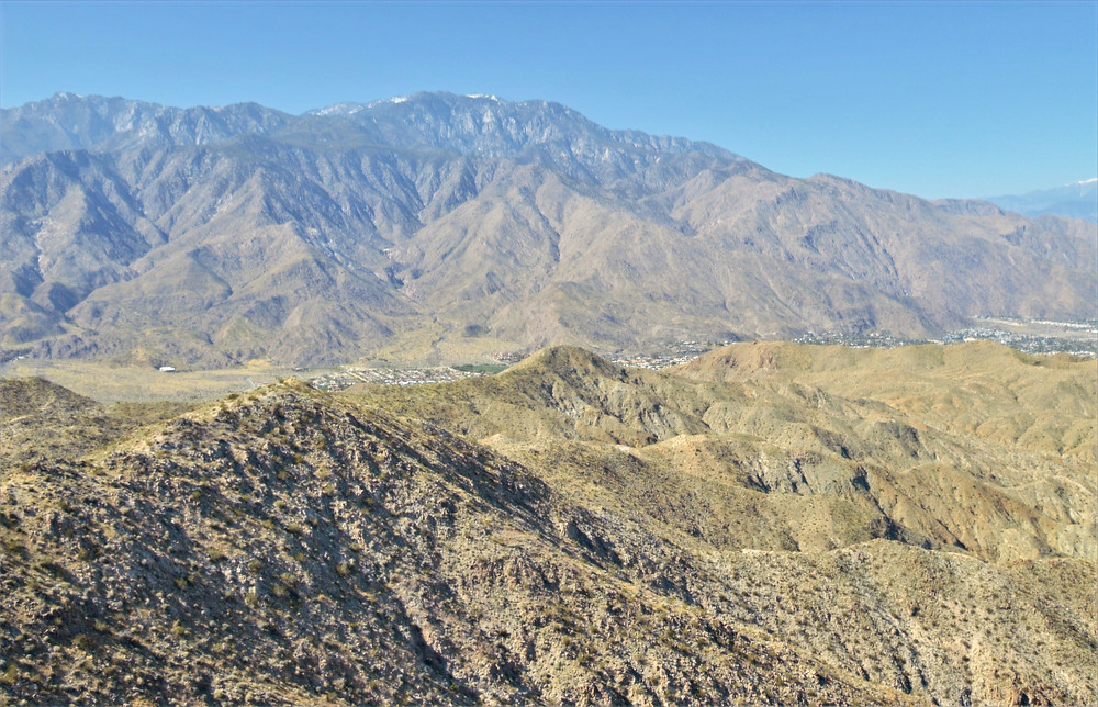 San Jacinto Mountains from the summit of Murray Hill in the Santa Rosa Mountains