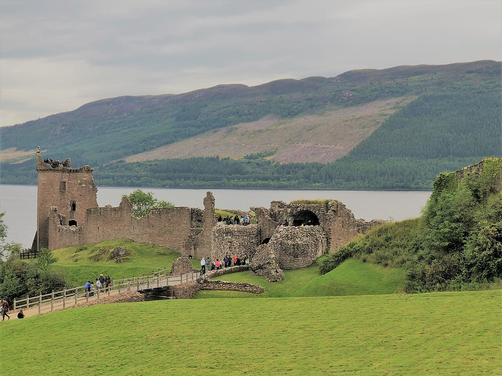 The present ruins of Urquhart Castle date from the 13th to the 16th centuries.