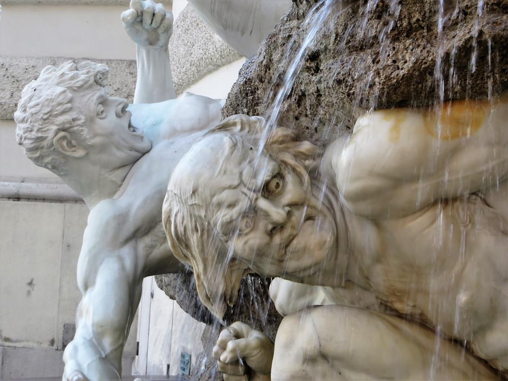 Fountains in Vienna gardens