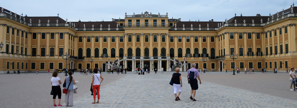 Schonbrunn Palace was the summer residence of Hapsburg rulers