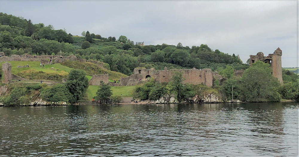 One  of Scotland's largest castles, Urquhart Castle sits on the banks of Loch Ness