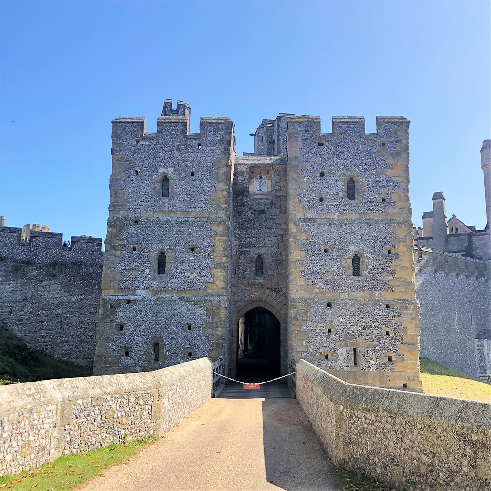 The medieval entrance into the Arundel Castle was through the Barbican built around 1295.