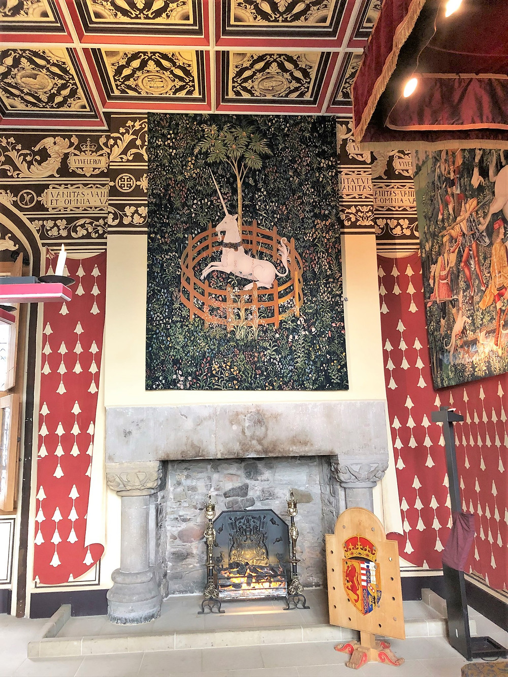 The walls of the Queen's  Inner Chamber at Stirling Castle were painted using trompe l'oeil