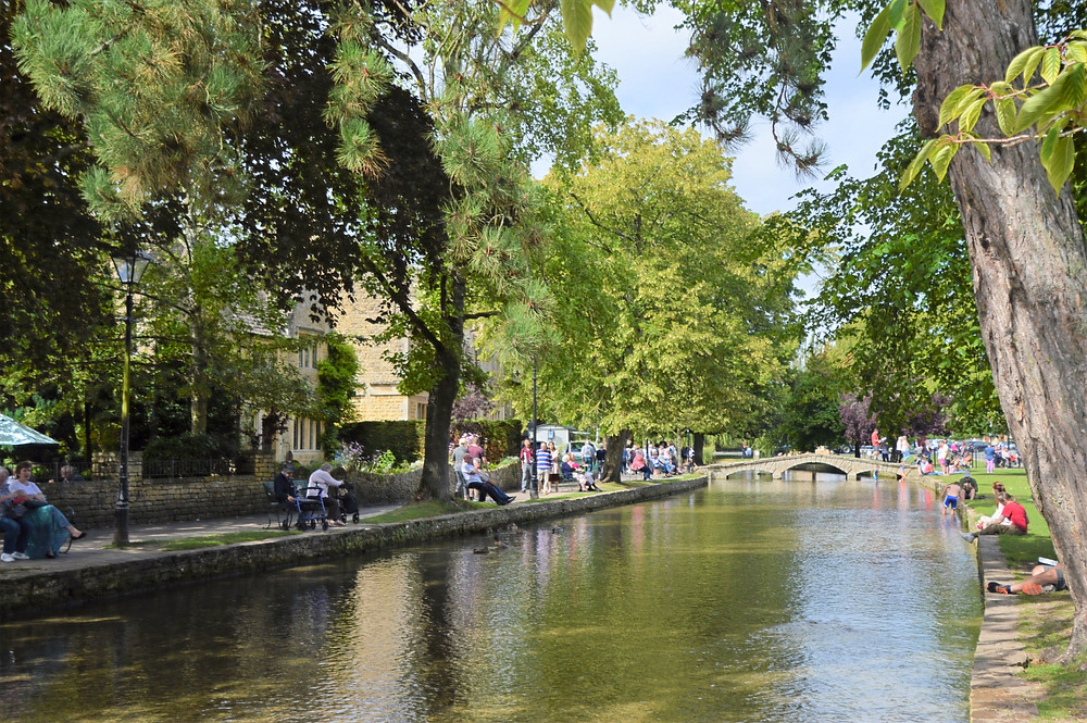 River Windrush in Burton-on-the-Water in Cotswolds