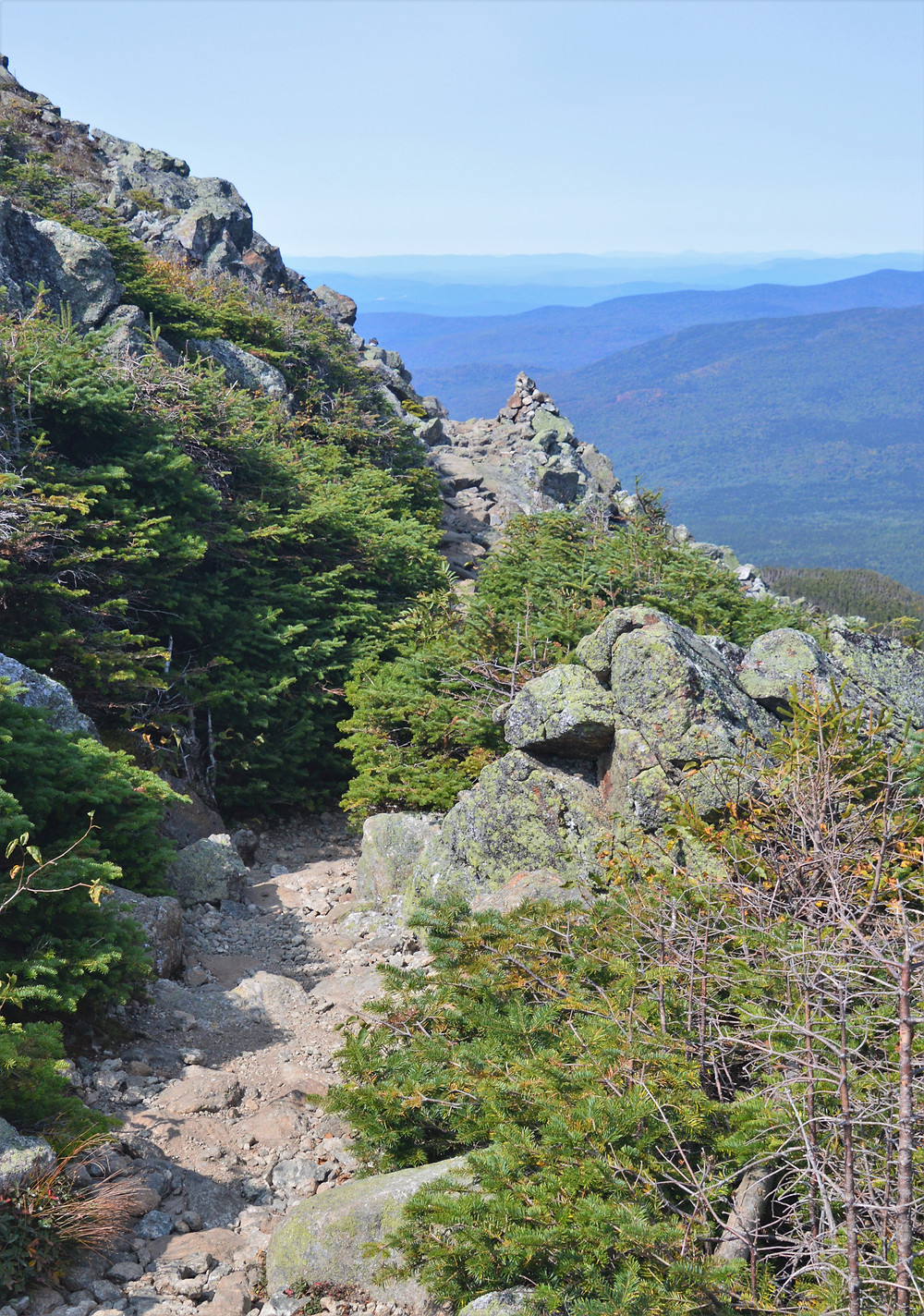 Ledge along Edmands Path to Mt Eisenhower