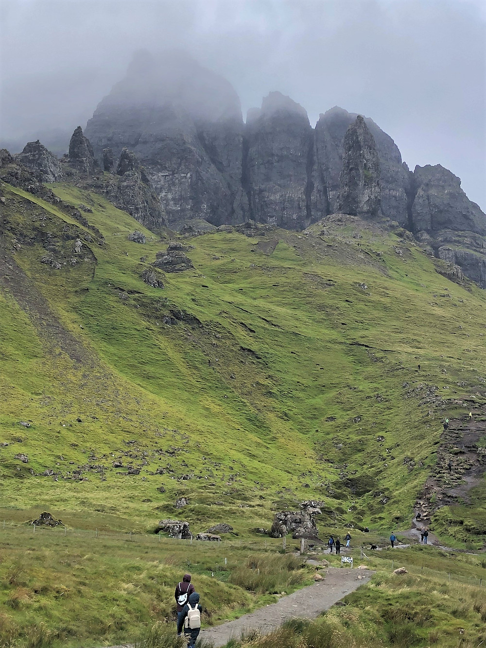 The Old Man of Storr sits atop the Trotternish Ridge in the northeastern region of the Isle of Skye