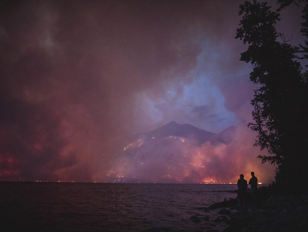 lake mcdonald fire glacier national park
