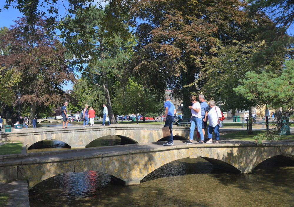 Burton-on-the-Water bridges over the River Windrush in Cotswolds