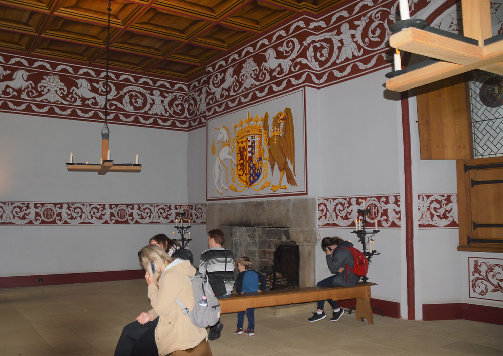 The Queen's Outer Hall in Stirling Castle was a waiting room for people hoping for an audience with the Queen.