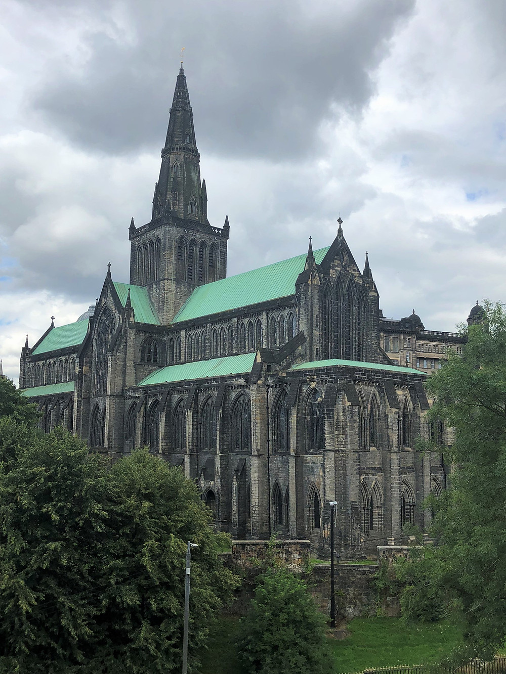 View of Glasgow Cathedral from the back.  The cathedral was consecrated in 1197.