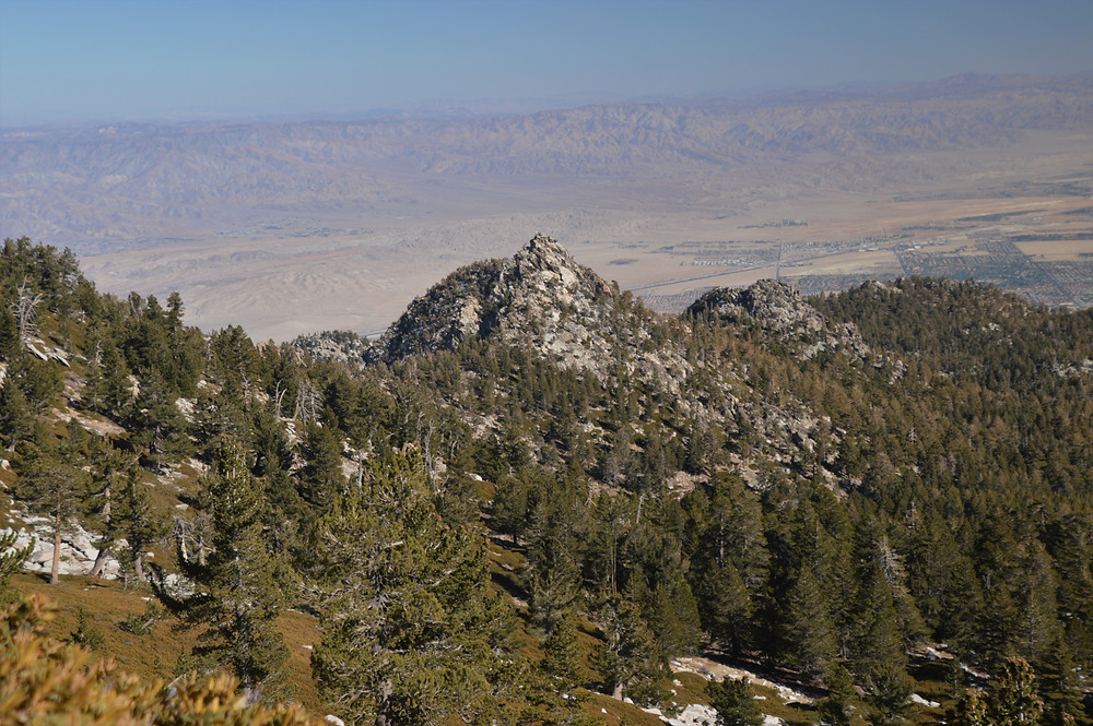 Panoramic desert views from the San Jacinto summit trail