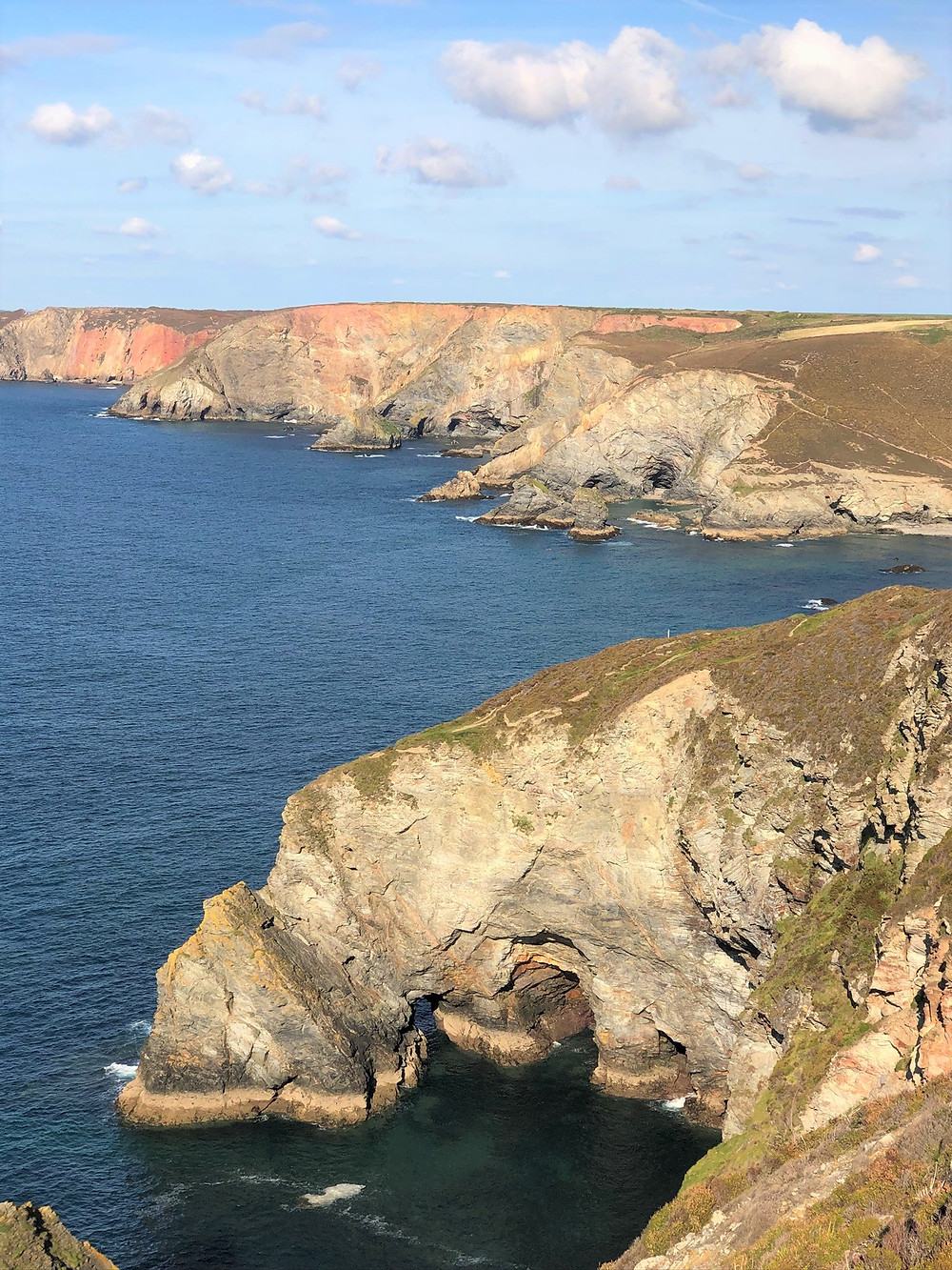 Two natural arches in the area are referred to as Polberro Cove in St Agnes, England. Cornwall coastline