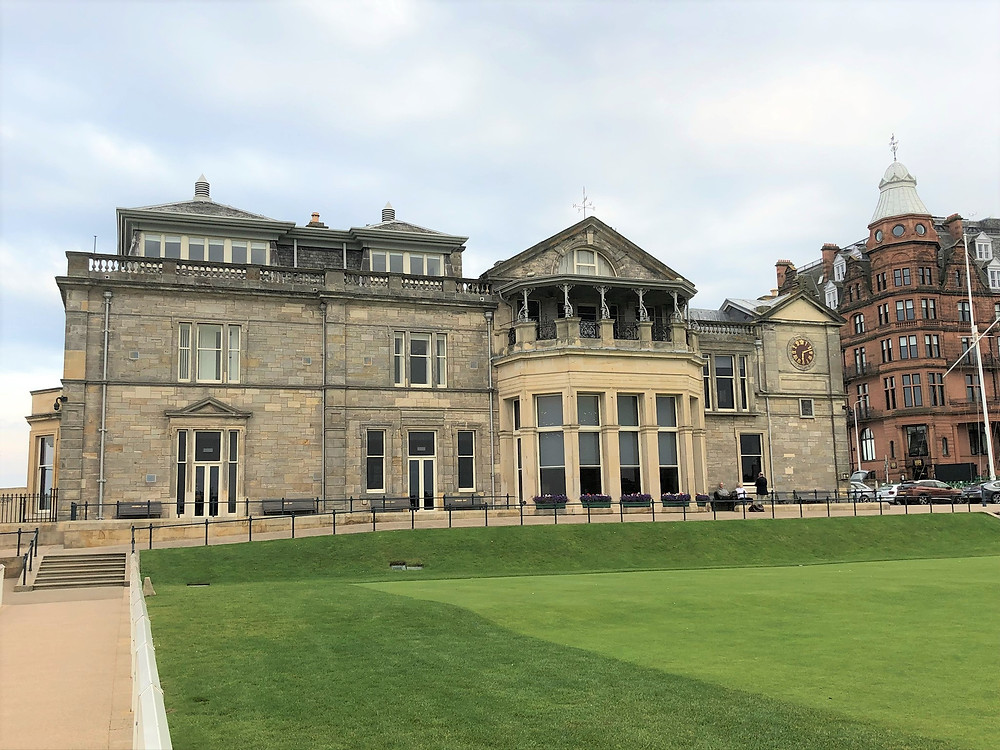 The Royal and Ancient Clubhouse at St Andrews in Scotland