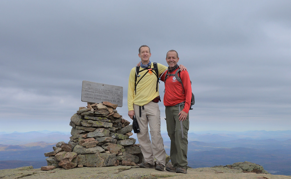 Summit of Mt Lafayette in the Franconia Mountain Range. 4000 Footer.