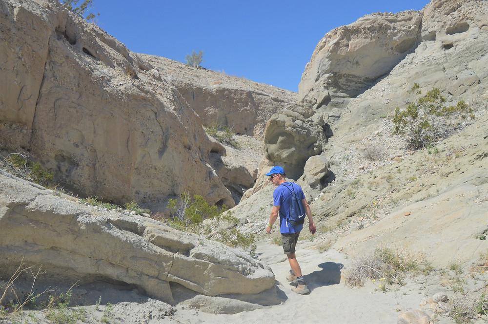 Badland terrain in the Indio Hills Trail Loop