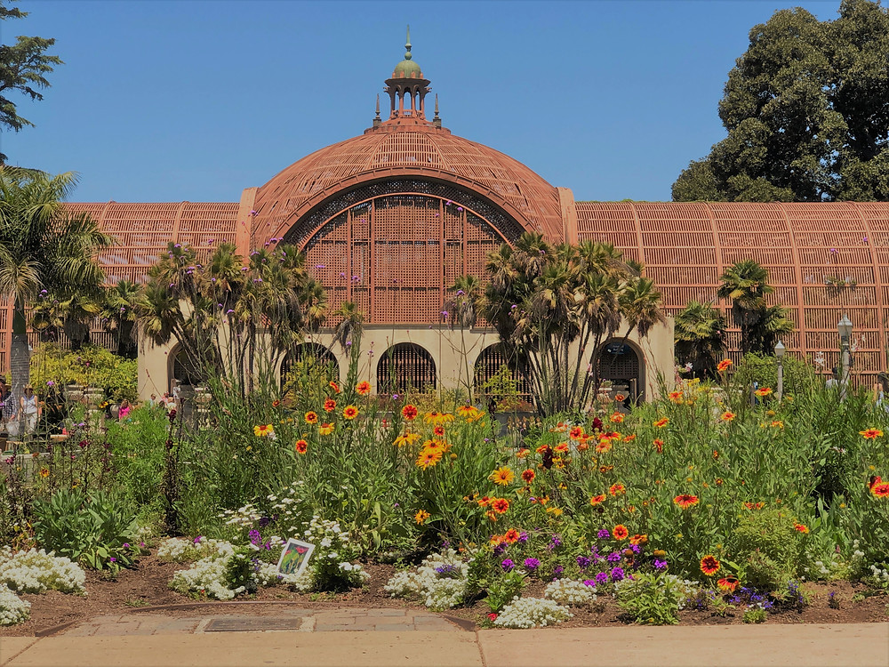 The Botanical Building and Gardens in Balboa Park in San Diego