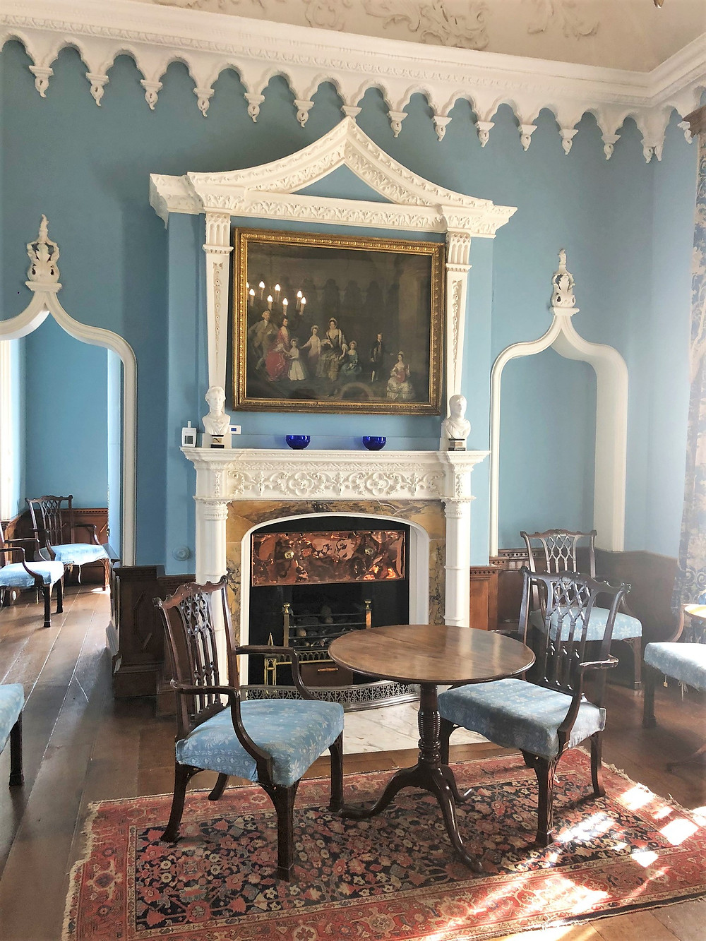 the Lady Chapel in St Michael's Mount castle, which dates to the 12th century, was converted in 1750 to the Blue Drawing Room