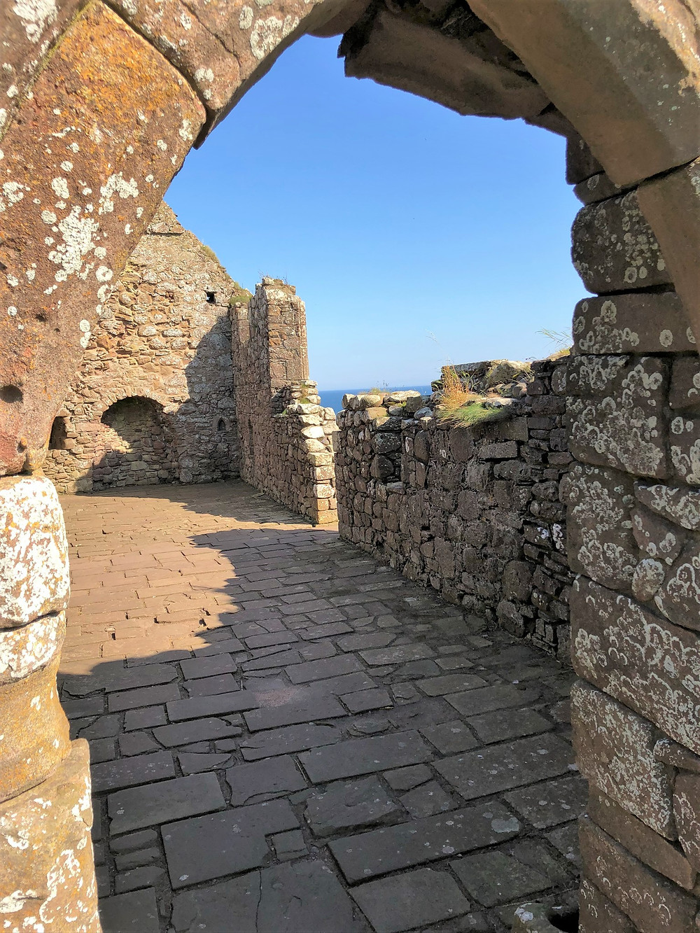 The Dunnottar Castle Chapel is the oldest surviving building on the rock and dates back, in part at least, to 1276.