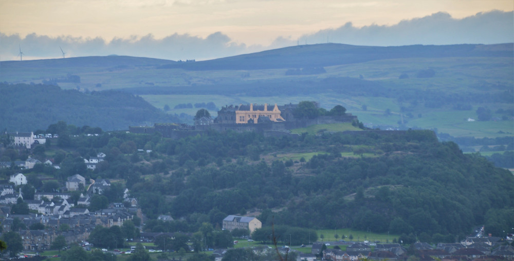A great view of Stirling Castle from the grounds of the Wallace Monument