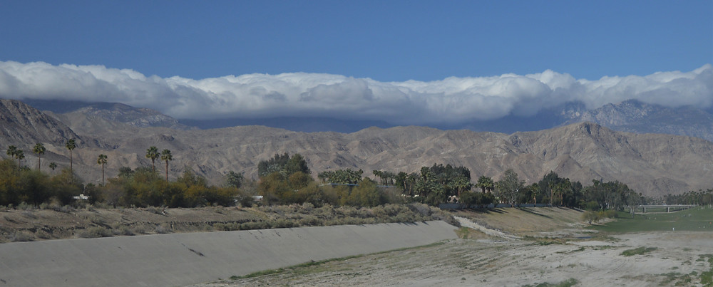 Clouds over San Jacinto Mountains from Palm Desert