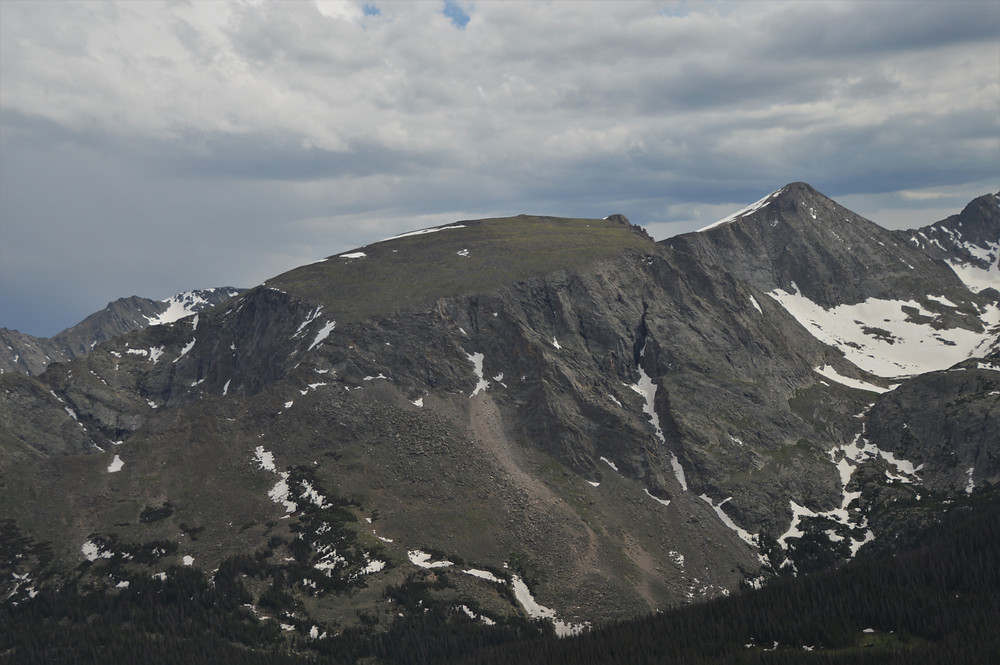 Terra Tomah Mountain with its plateau top reaching 12,718 feet in Rocky Mountain National Park.