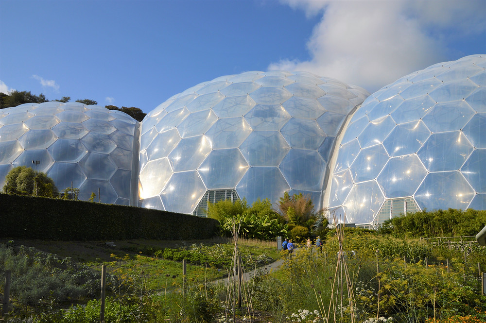The Eden project biomes consist of hundreds of ETFE inflated cell supported by geodesic tubular steel supports