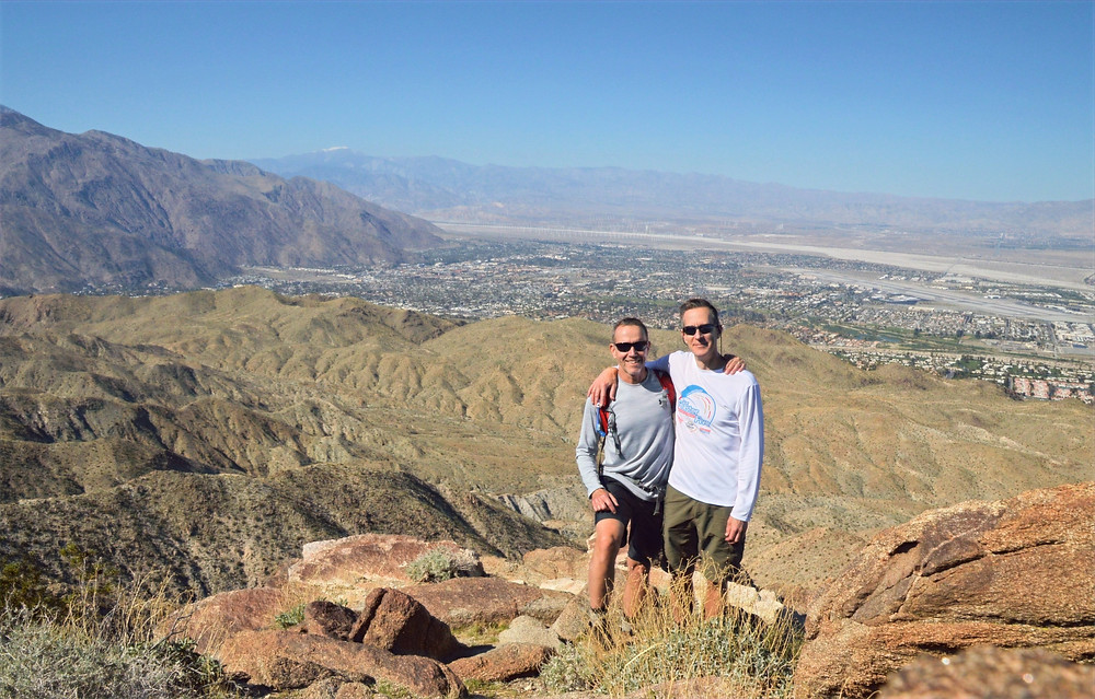 Palm Springs from the summit of Murray Hill in the Santa Rosa Mountains