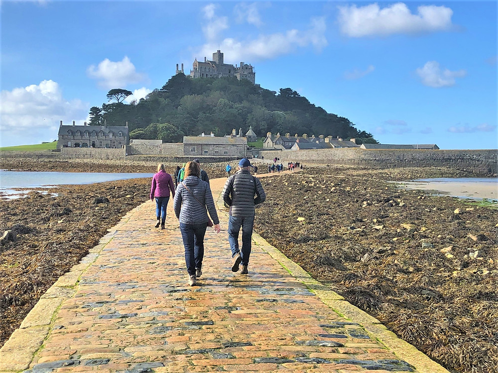 St. Michael's Mount in England, a former medieval monastery and sprawling castle that is set atop an offshore island, is only accessible on foot during low tide.