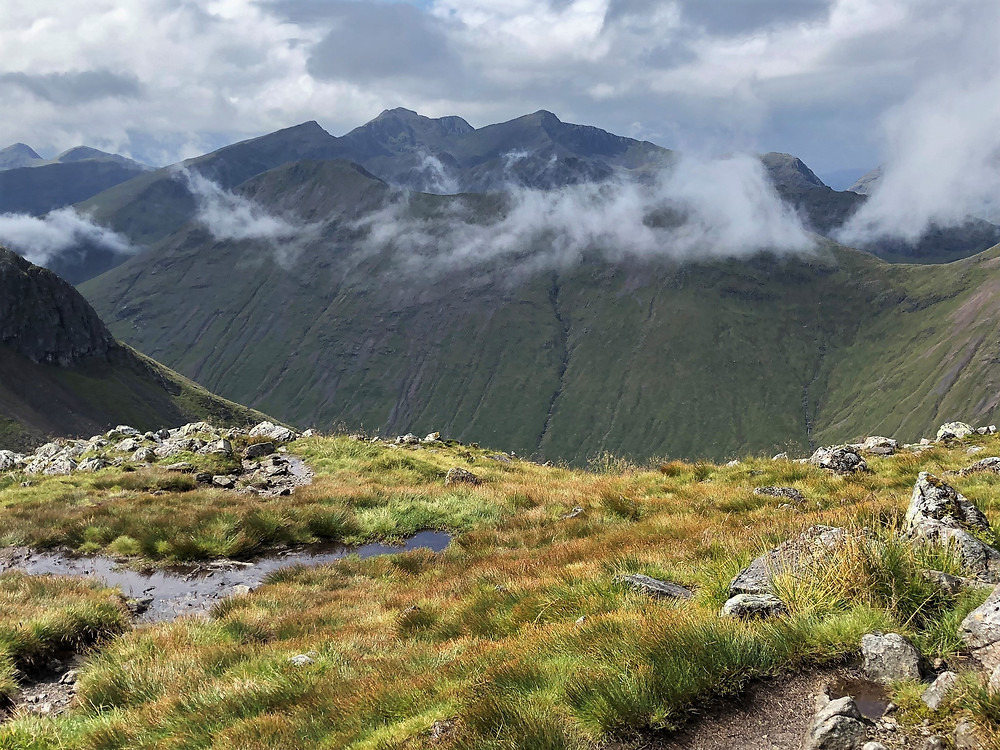 View from the summit of Stob Na Doire (3,317 ft) in the Scottish Highlands