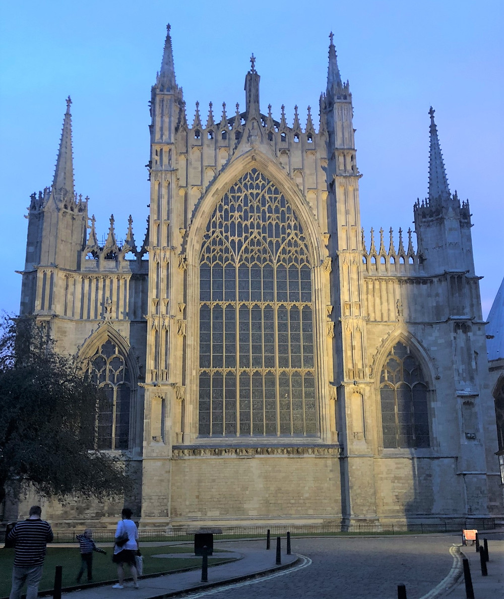 The exterior walls of the Great East window in York Minster