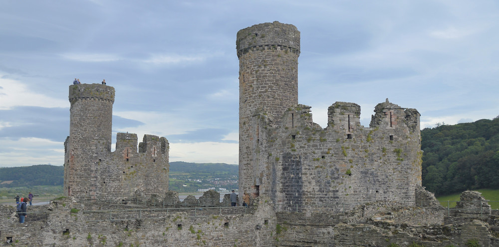 Towers in the Inner Ward of Conwy Castle built by Edward I