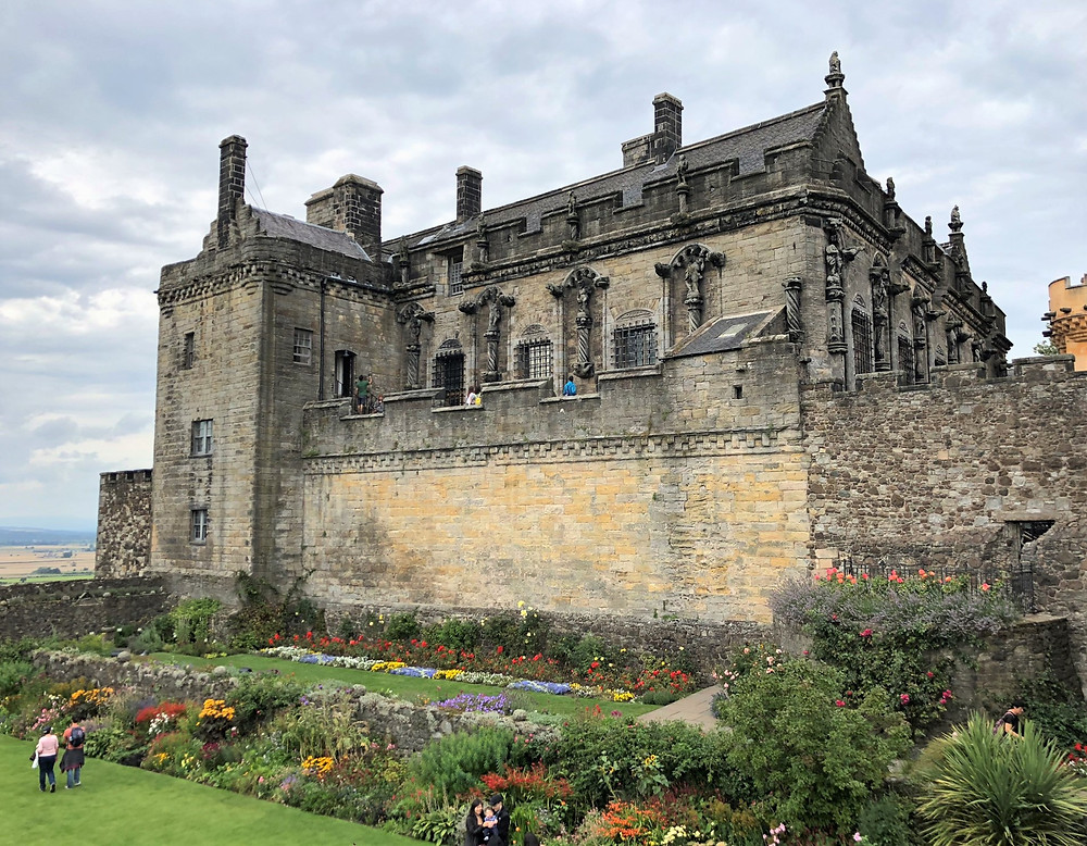 Queen Anne gardens along the south side of Stirling Castle