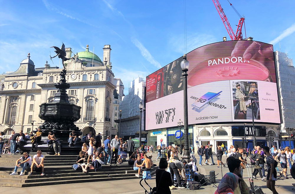 Piccadilly Square in London