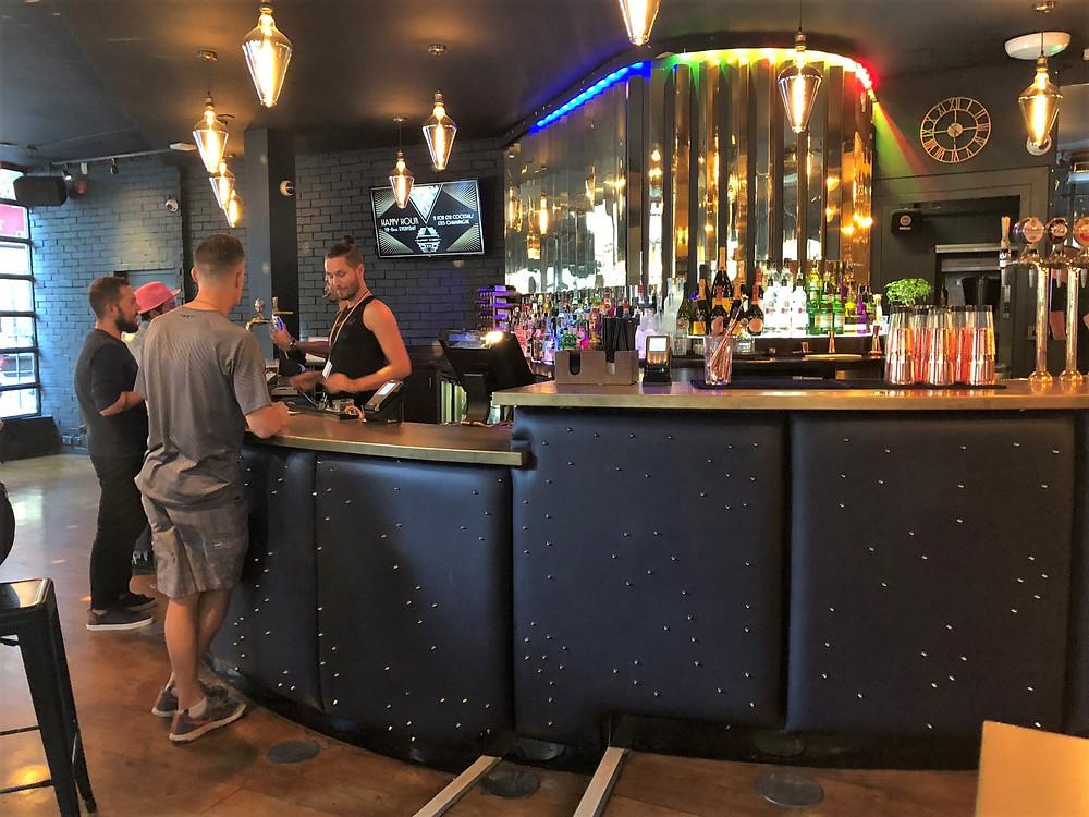 Getting drinks Rupert St gay bar in London