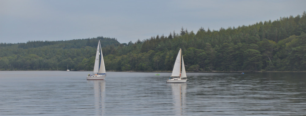 Sail boats on Loch Ness