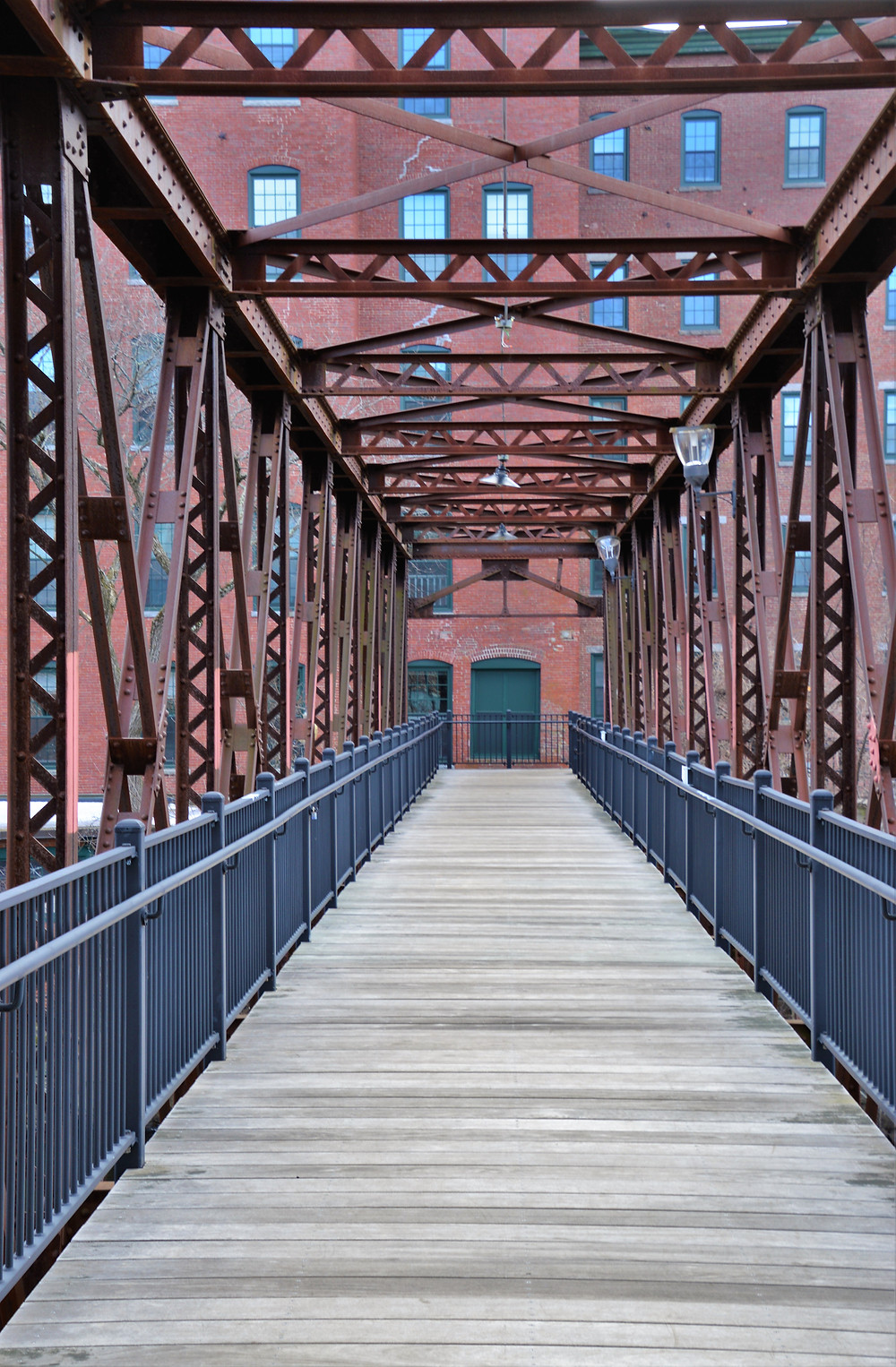 Warren Truss Bridge built in 1902 connected the South Cotton Storehouse to the Nashua Manufacturing Co mill buildings