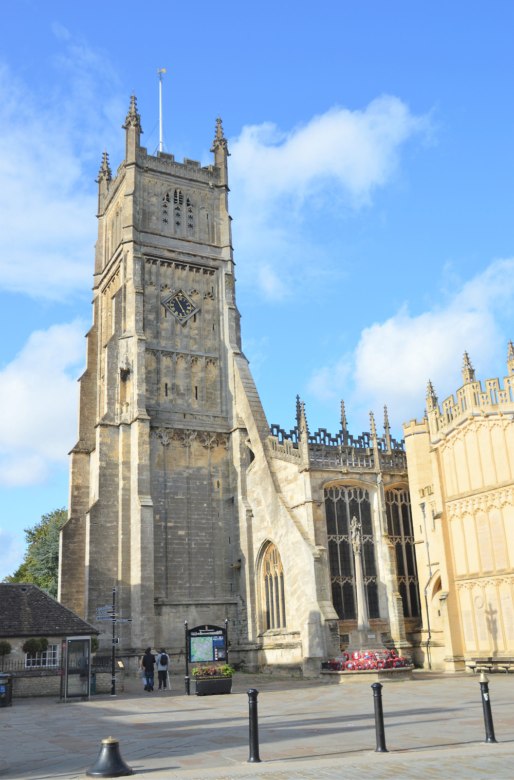 Cathedral of the Cotswolds, St. John the Baptist dates back to 1115.  Cirencester of the Cotswolds