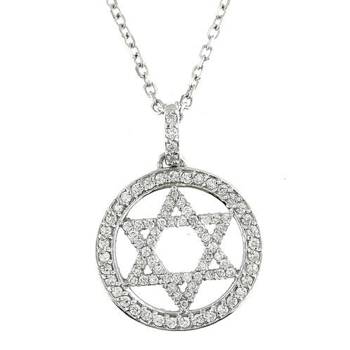 100 ct white gold diamond star of david pendant necklace 14 kt 100 ct white gold diamond star of david pendant necklace 14 kt aloadofball Choice Image