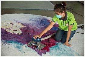 carpet shearing in finishing process