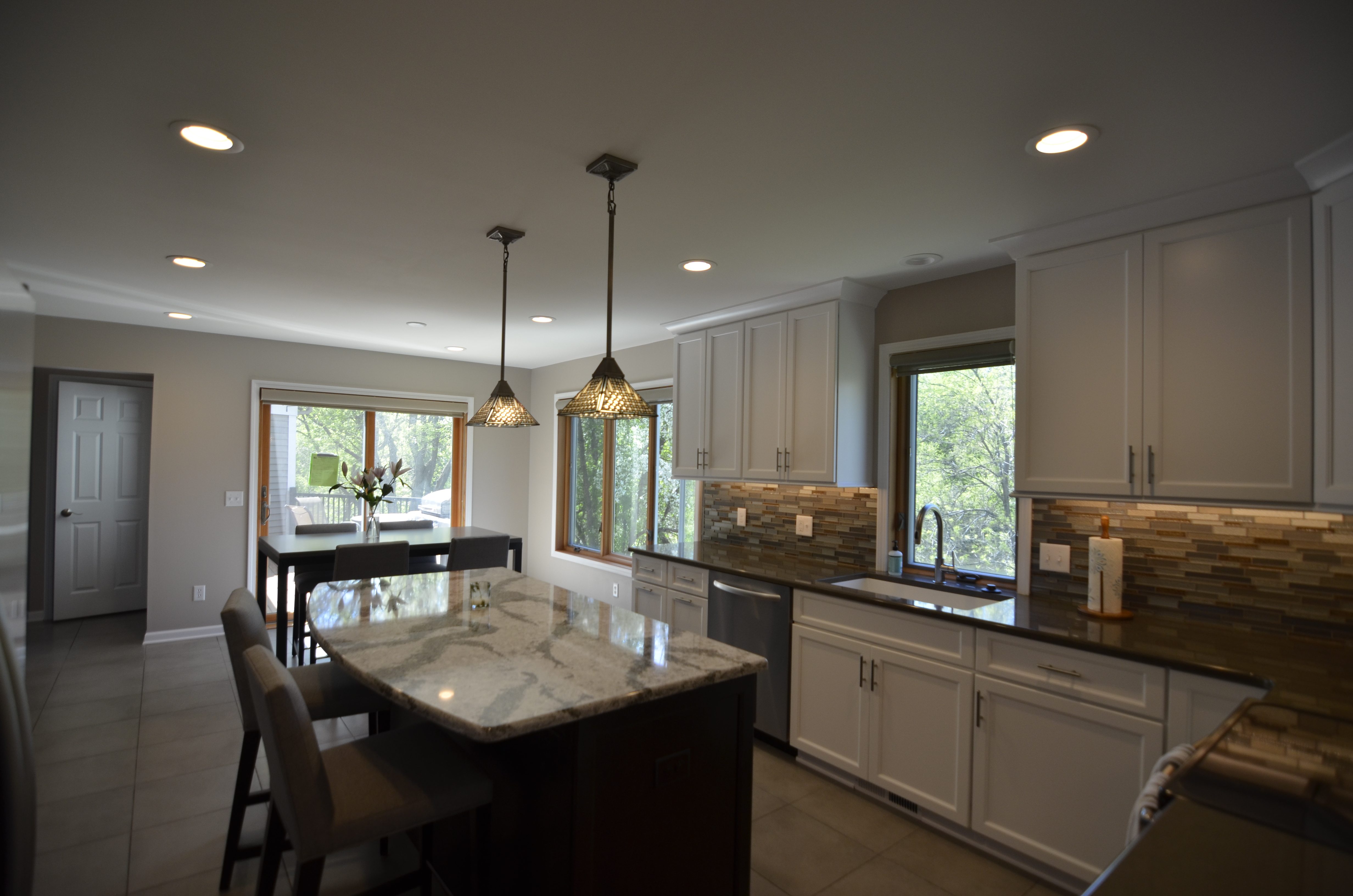 White Painted Kitchen, Mendota Hghts