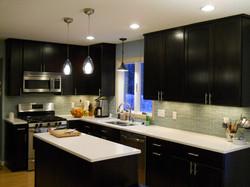 Dark cabinetry kitchen remodel